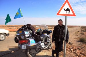 Ahead of the camels