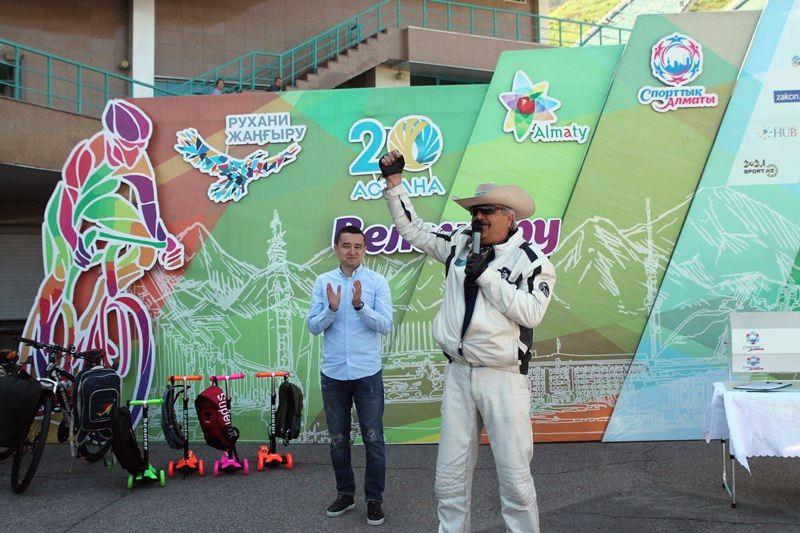 Дмитрий Петрухин возглавил мотовелопробег в Алматы