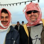 С другом из Сирии